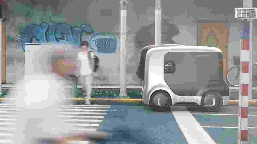 Projeto imagina como funcionariam as cidades na transição para os carros autônomos - Divulgação