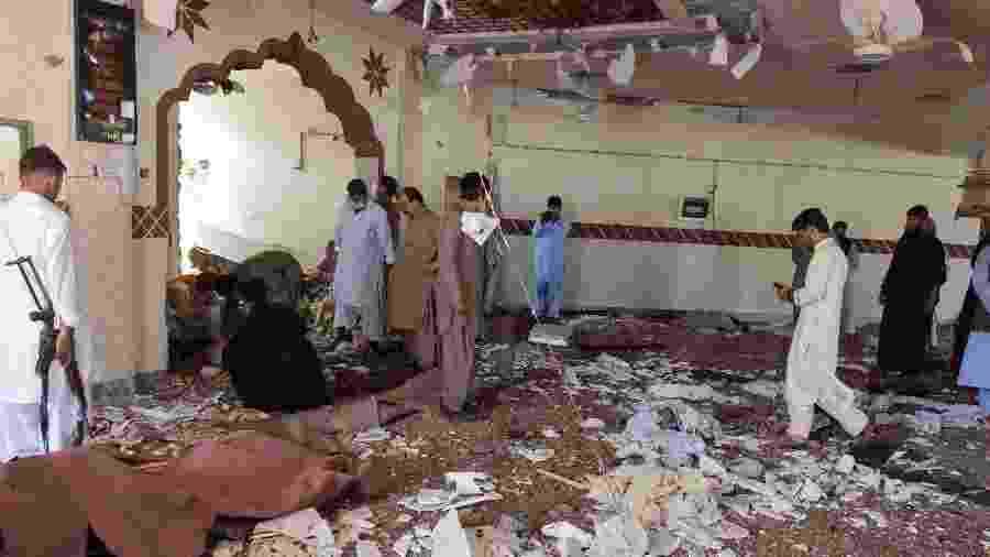 Ataque a mesquita em Kuchlak (Paquistão) deixou quatro vítimas - Banaras Khan/AFP