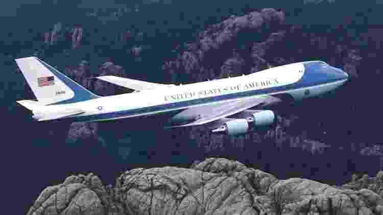 A presidência dos Estados Unidos utiliza o Boeing 747 como avião de transporte - Divulgação