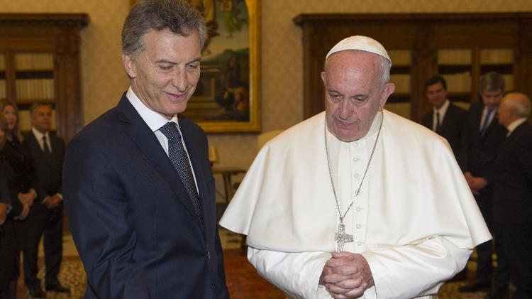 """Macri tentou aproximação com o papa Francisco, mas a relação é considerada """"distante"""" - Giorgio Onorati / AFP"""