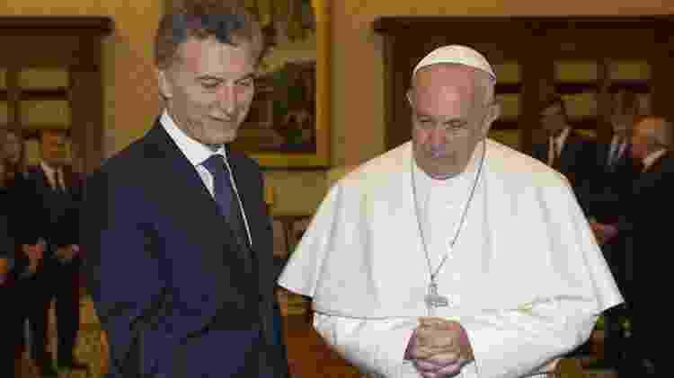 Macri e Papa - Giorgio Onorati / AFP - Giorgio Onorati / AFP