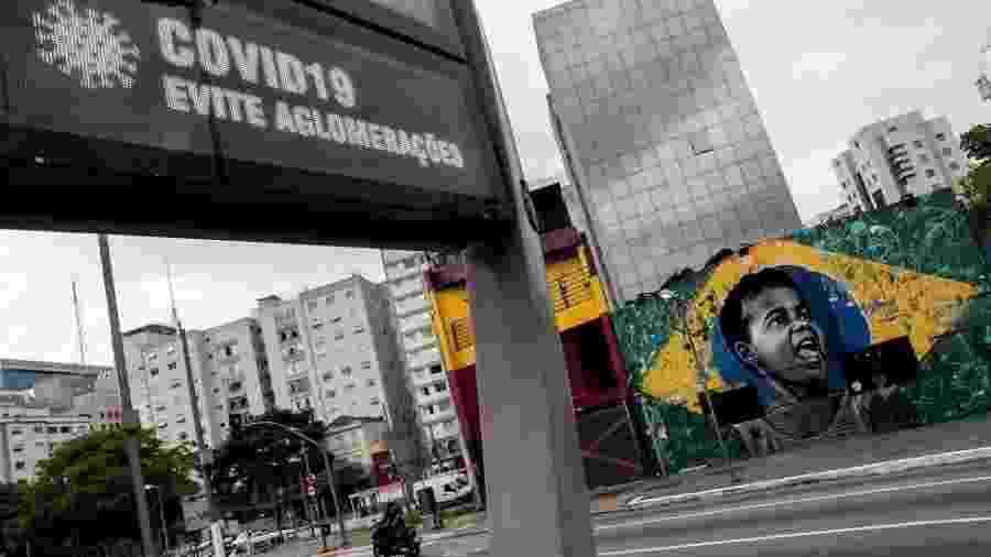 O estado de São Paulo entrou em quarentena ontem, dia 24 de março - Sebastião Moreira/EPA