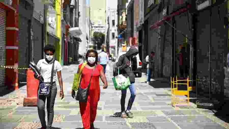 25.mar.2020 - Pouca movimentação nas ruas da cidade de São Paulo (SP) durante quarentena por causa do coronavírus - DANILO M YOSHIOKA/FUTURA PRESS/ESTADÃO CONTEÚDO