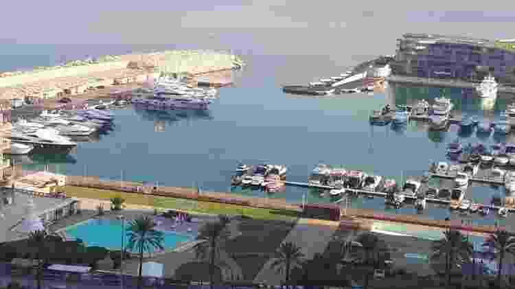 Marina do Iate Clube de Beirute, localizada a três quilômetros do porto, local da explosão que deixou 300 mil desabrigados - Renata Abalem/Arquivo Pessoal - Renata Abalem/Arquivo Pessoal