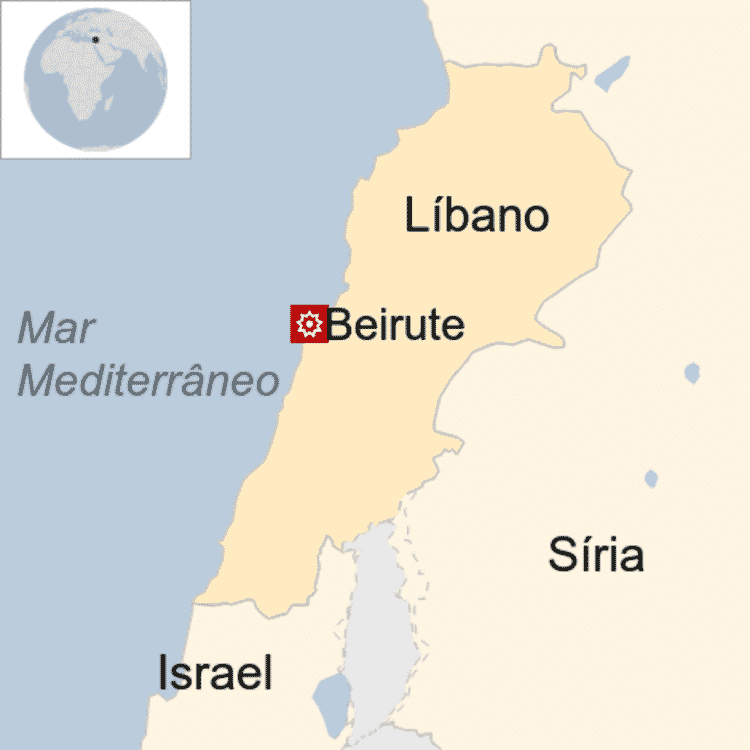 Mapa do Líbano - BBC - BBC