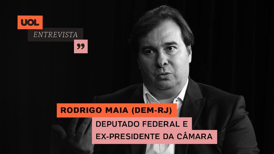 UOL Entrevista com Rodrigo Maia (23/02/21) - Arte/UOL