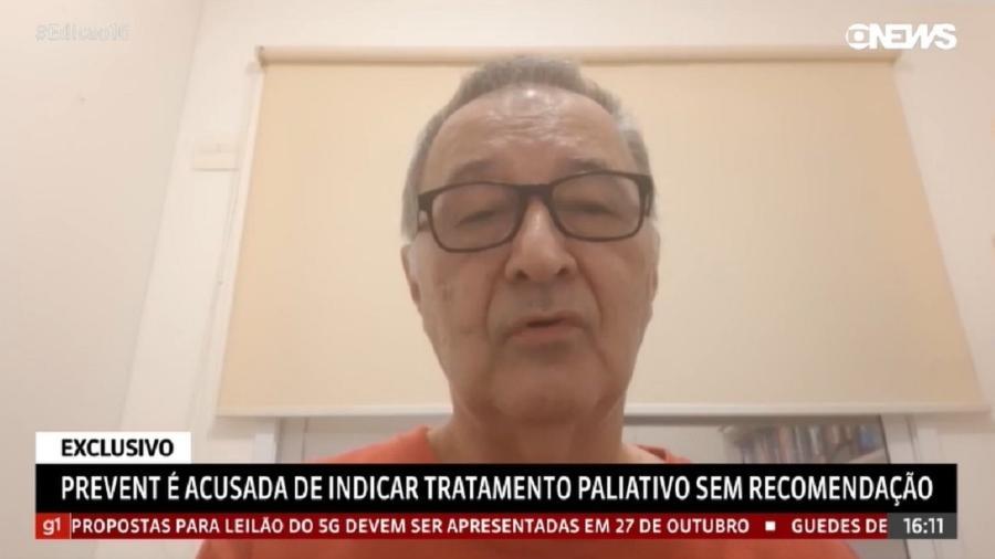 Familiares de advogado acusam Prevent Senior de oferecer tratamento paliativo para redução de custos - Reprodução/GloboNews