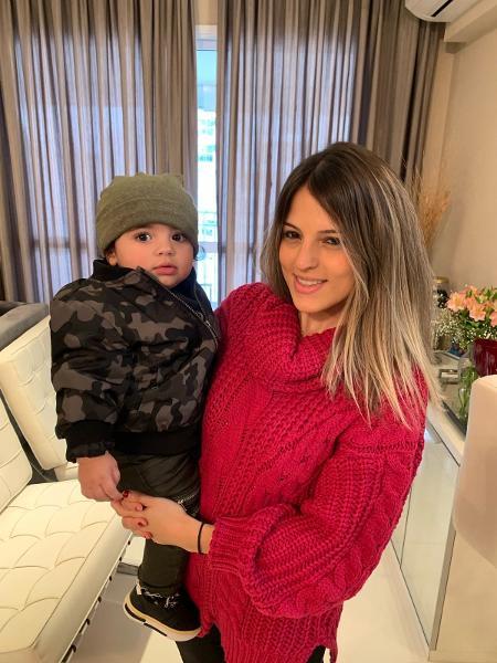 A empresária Natalia da Silva Pedroso e seu filho João Miguel Pedroso Bessa de 1 ano e 2 meses - Arquivo pessoal - Arquivo pessoal