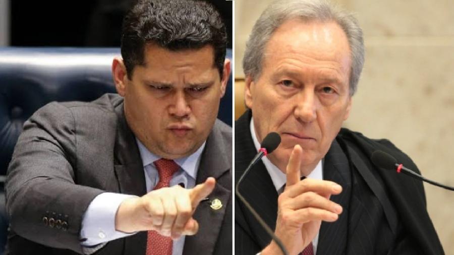 Davi Alcolumbre e Ricardo Lewandowski: os dois dizem como não pode ser na democracia. Ainda bem!  - Reprodução
