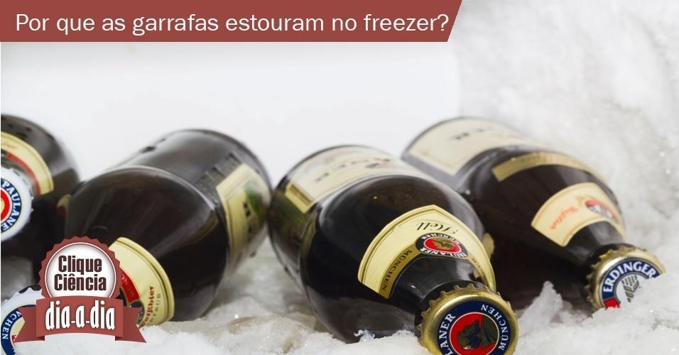 """4.mai.2016 - Por que as garrafas estouram no congelador? Podemos """"regelar"""" uma bebida?"""