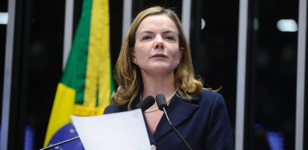 A presidente do PT, senadora Gleisi Hoffmann (PT-PR)