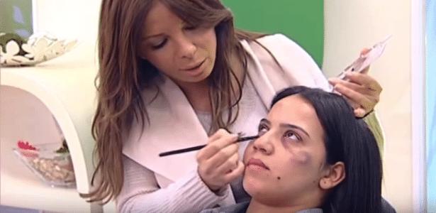 Programa matinal no Marrocos exibe tutorial de maquiagem a mulheres que precisam disfarçar marcas da violência doméstica - Reprodução/Youtube/ Scandal in the world
