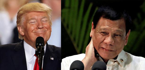 Donald Trump, presidente dos EUA, e Rodrigo Duterte, presidente das Filipinas