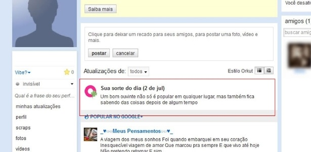 Ver fotos dos amigos no orkut 56