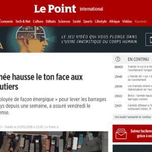 A revista francesa Le Point falou sobre como o governo havia anunciado o fim do movimento, o que não aconteceu - Reprodução