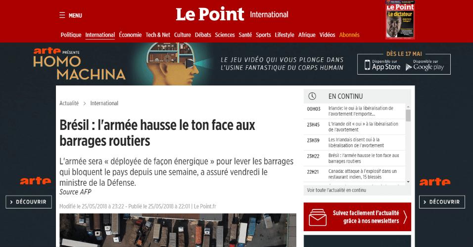 A revista francesa Le Point falou sobre como o governo havia anunciado o fim do movimento, o que não aconteceu