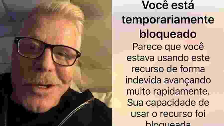 Miguel Falabella afirmou ter sido bloqueado pelo Instagram pelo excesso de curtidas - Reprodução/Instagram