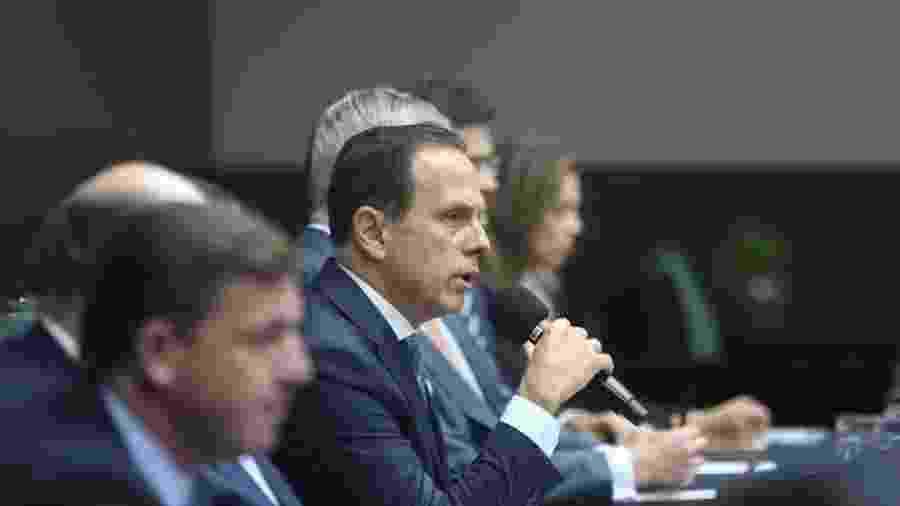 3.set.2019 - O governador João Doria concede entrevista coletiva em São Paulo - Divulgação/Secom/Governo de São Paulo