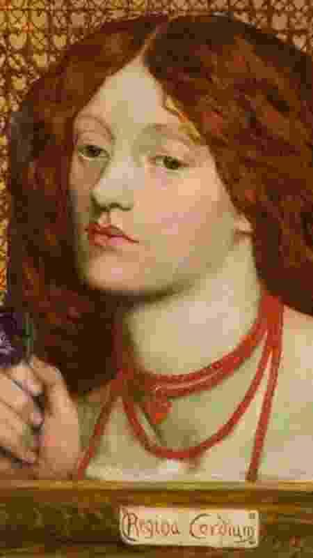 """""""Clerk Saunders"""" foi uma das obras de Siddal exibidas na mostra Pré-Rafaelita em Londres em 1857 - Alamy"""