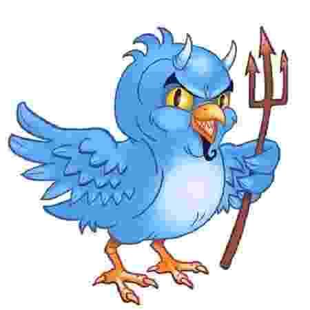 Quando o passarinho resolve dar o pio do capeta, o Twitter pode excluir a postagem em nome da segurança - Reprodução