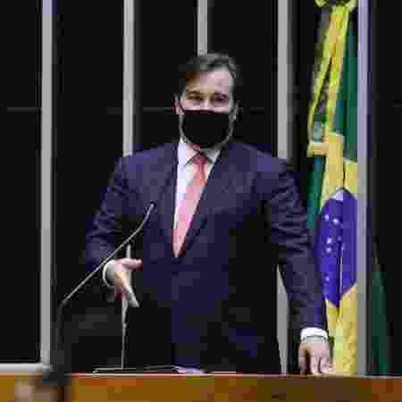 O presidente da Câmara dos Deputados, Rodrigo Maia (DEM-RJ), em sessão do Congresso - Najara Araújo/Câmara dos Deputados