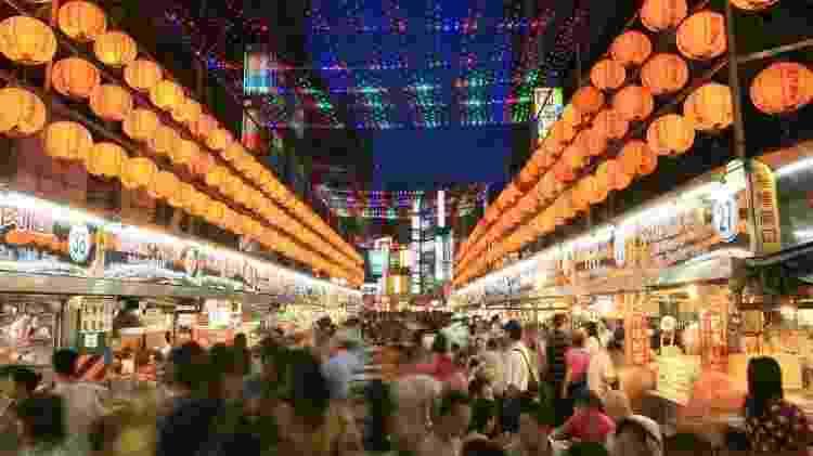 O mercado noturno de Keelung, cidade de Taiwan - Escritório Econômico e Cultural de Taipei no Brasil/Divulgação - Escritório Econômico e Cultural de Taipei no Brasil/Divulgação