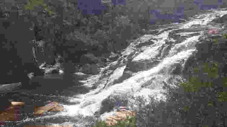 Cachoeira localizada na Fazenda Curimataí, no distrito de Buenópolis (MG) - Divulgação/CBMMG - Divulgação/CBMMG