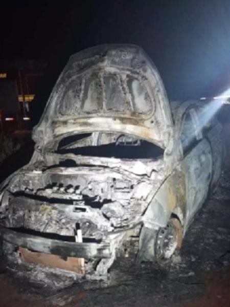 Polícia suspeita que carro queimado foi usado em assassinato em Campo Grande - Divulgação