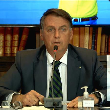 O presidente Jair Bolsonaro (sem partido), na live de 29 de julho - Reprodução/YouTube