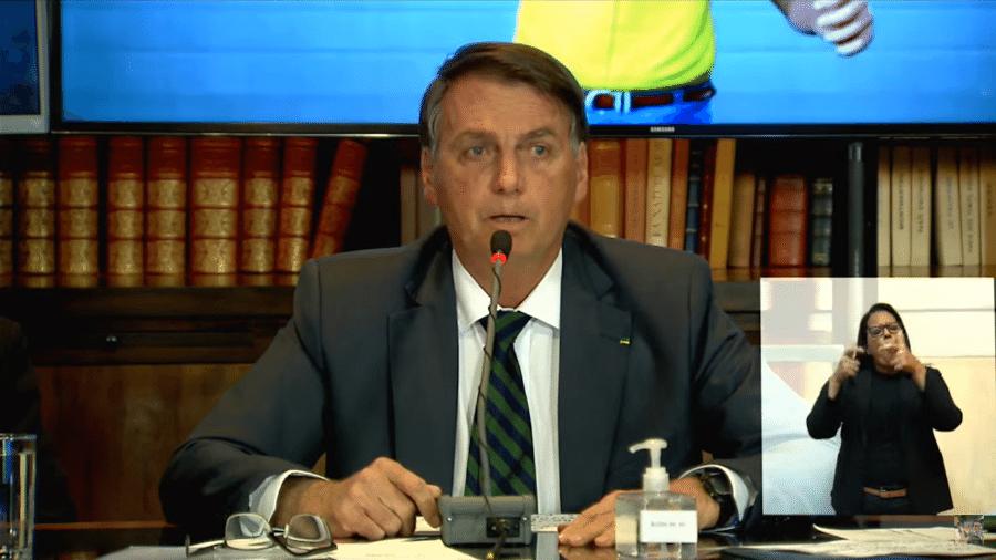 29.jul.2021 - O presidente Jair Bolsonaro (sem partido), durante sua live semanal - Reprodução/YouTube