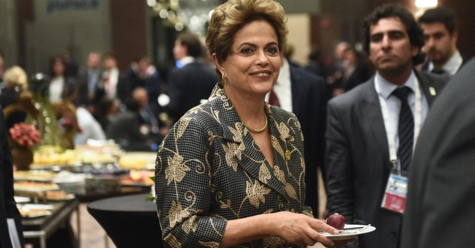 15.nov.2015 - A presidente Dilma Rousseff durante reunião de líderes do G20 em Antalya, na Turquia