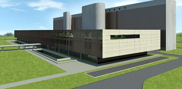 Projeto de novo anexo que será construído pela Câmara dos Deputados. Ao fundo, o anexo 4, já existente