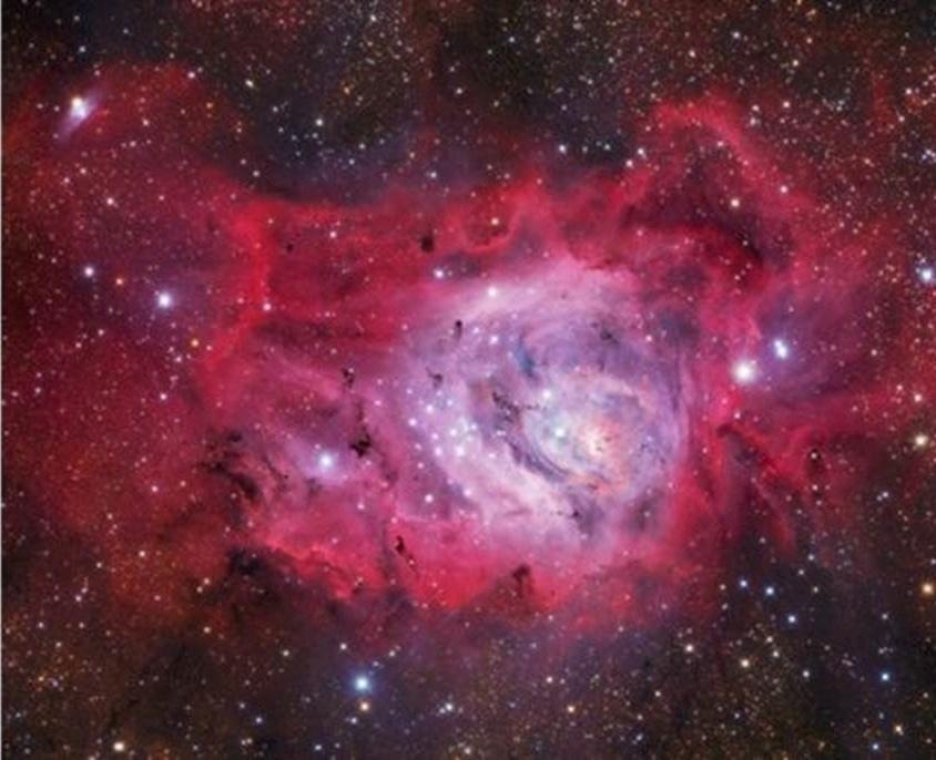 1º.ago.2016 - Ivan Eder registrou esta imagem da Nebulosa Laguna M8, localizada aproximadamente a 5.000 anos-luz da Terra