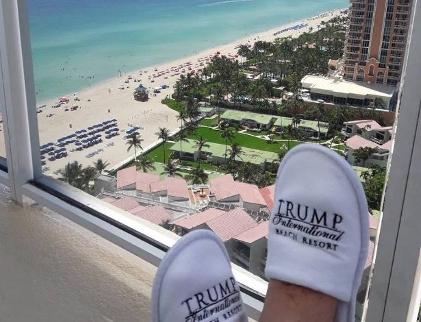 Vista de uma das suítes do Trump International Beach Resort, em Miami (EUA) - Reprodução/Facebook
