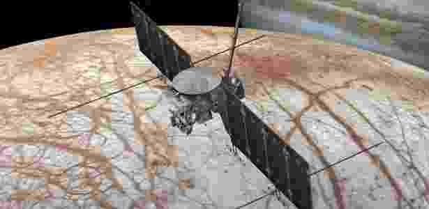 27.mar.2017 - A sonda Clipper fará 45 'rasantes' na lua jupteriana em sua missão - NASA/JPL-CALTECH - NASA/JPL-CALTECH