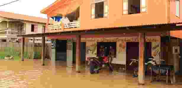 Deslizes de barrancos e cheias assustam os moradores de Boca do Acre-AM - Jorbison Rodrigues/Arquivo Pessoal - Jorbison Rodrigues/Arquivo Pessoal