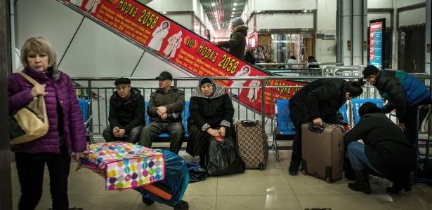 Shopping center no lado chinês da fronteira com o Cazaquistão, em Horgos