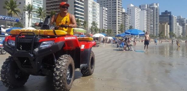 O sargento Gerson trabalha há 30 anos como socorrista na cidade que mais registra afogamentos no litoral de SP
