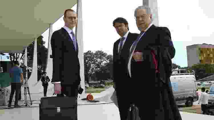 22.mar.2018 -  Advogados da defesa do ex- presidente Lula chegam ao prédio do STF, em Brasília - Dida Sampaio/Estadão Conteúdo