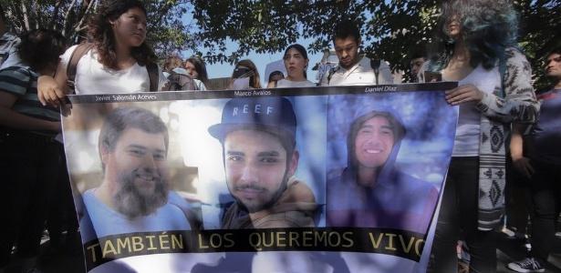 Os três estudantes de cinema foram dados como desaparecidos em 19 de março, após terem saído para gravar um curta-metragem - EPA