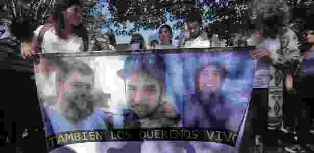 Os três estudantes de cinema foram dados como desaparecidos em 19 de março, após terem saído para gravar um curta-metragem - EPA - EPA