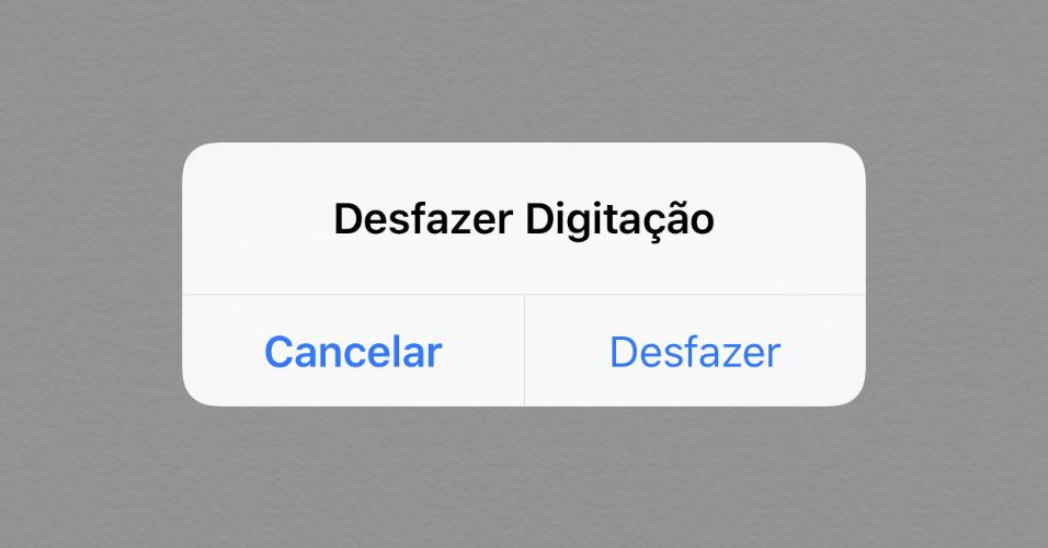 Desfazer digitação no iPhone