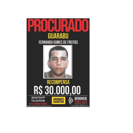 Procurado pela polícia desde 2003, Guarabu foi morto ontem no Rio - Reprodução