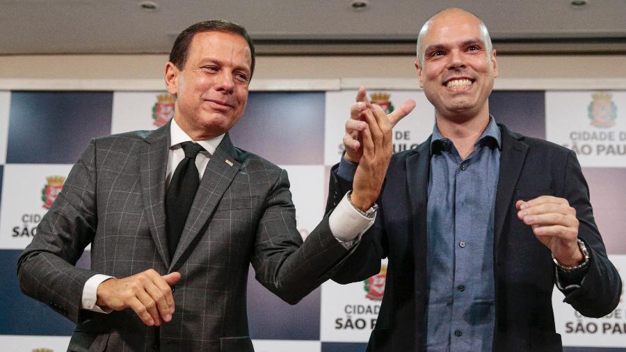 O governador de SP, João Doria (à esq.), ao lado do prefeito da capital, Bruno Covas - Suamy Beydoun/Agif/Estadão Conteúdo