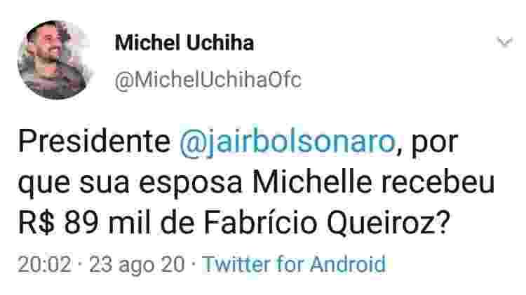 Post em que Michel Uchiha, terceiro sargento da Marinha, questiona Jair Bolsonaro - Reprodução - Reprodução