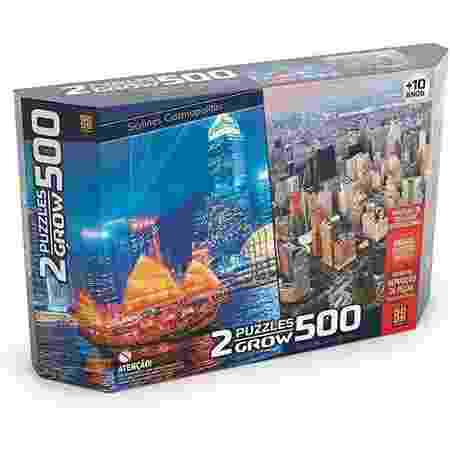 Quebra-cabeças 500 peças duplo - Grow - Divulgação - Divulgação