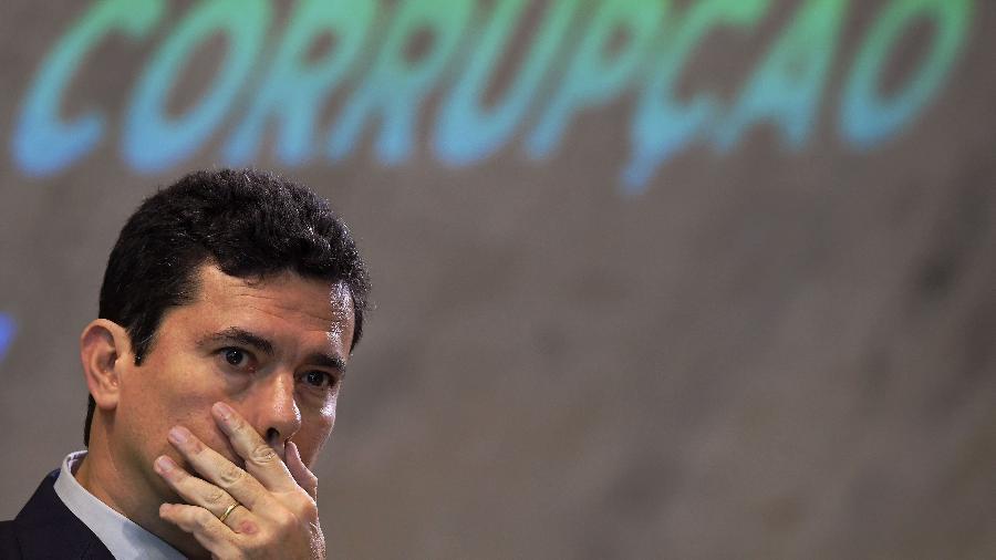 23.nov.18 - O então futuro ministro da Justiça, Sérgio Moro, em um evendo sobre combate à corrupção no Rio - Carl de Souza - 23.nov.18/AFP