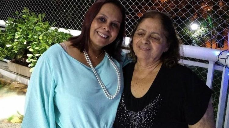 Solange Pereiras e a mãe Semiramis Oliveira - Arquivo Pessoal - Arquivo Pessoal