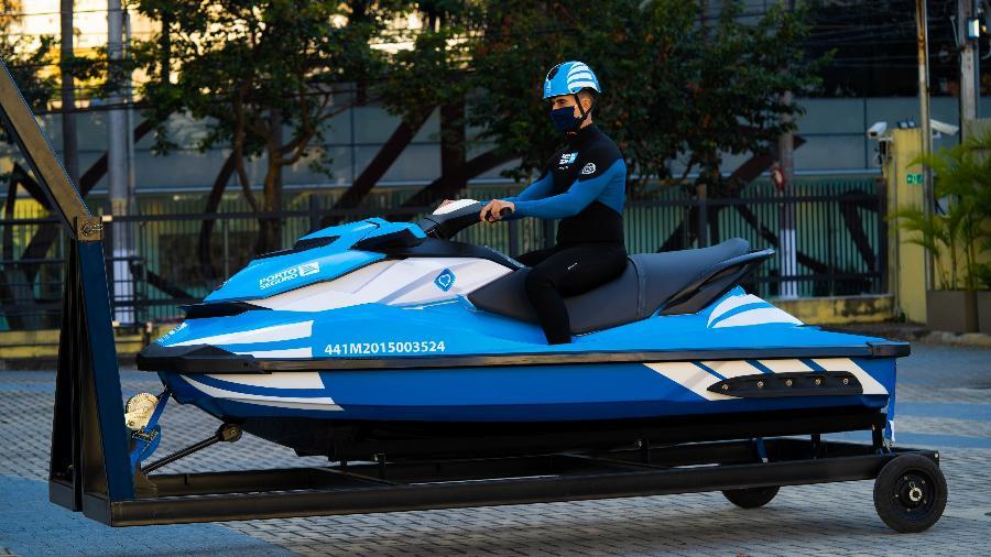 Serviço começou com uma moto aquática em São Paulo; ideia é expandir para outras regiões - Divulgação/Porto Seguro