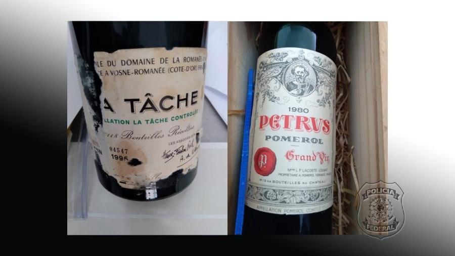 Os vinhos foram furtados da adega do Ministério das Relações Exteriores e recuperados pela Polícia Federal - Divulgação/PF